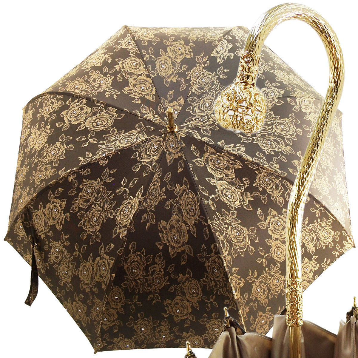 Very Beautiful Handmade Luxury Women's Umbrella - Crystals Umbrella - il-marchesato
