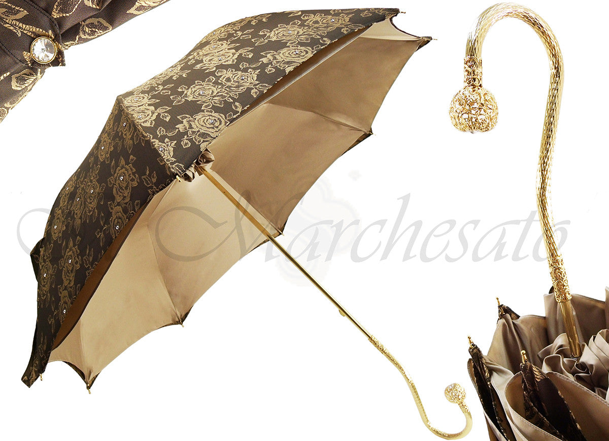 Very Beautiful Handmade Luxury Women's Umbrella - Cristalli Umbrella - il-marchesato