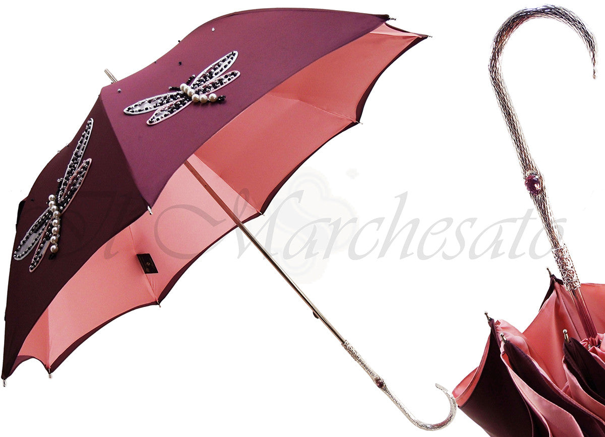 awesome embroidery butterfy umbrella