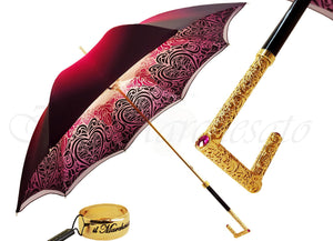 Beautifull Double Canopy Umbrella Finished in a Luxurious Colored Satin Polyester Fabric - il-marchesato