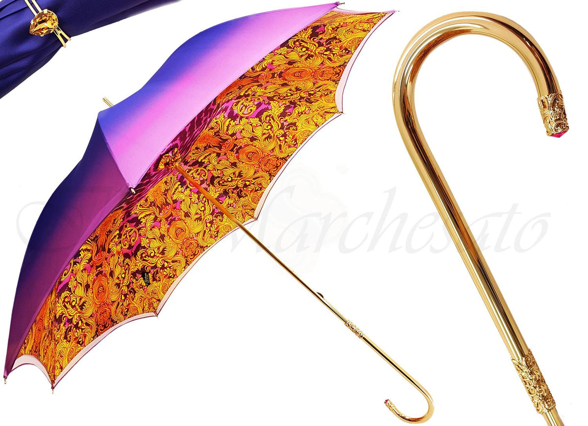handmade luxury double canopy umbrella  sc 1 st  Il Marchesato & il Marchesato Brightly Colored Handcrafted Double Canopy Umbrella ...