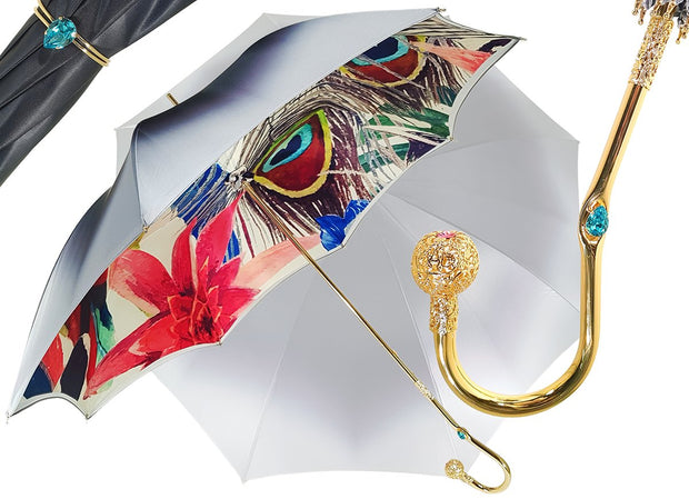 Superb Umbrella With Floral Design - il-marchesato