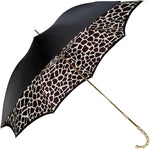 Load image into Gallery viewer, Black And White Pattern Plaid Double Cloth Umbrella - il-marchesato