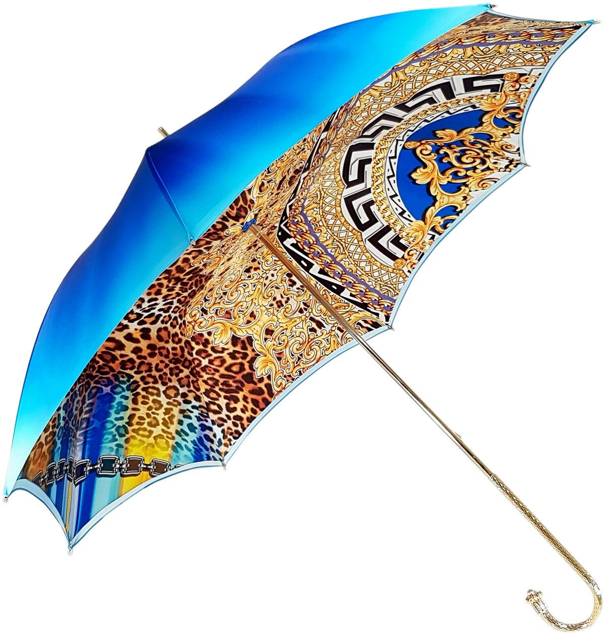 double canopy leopadized umbrella