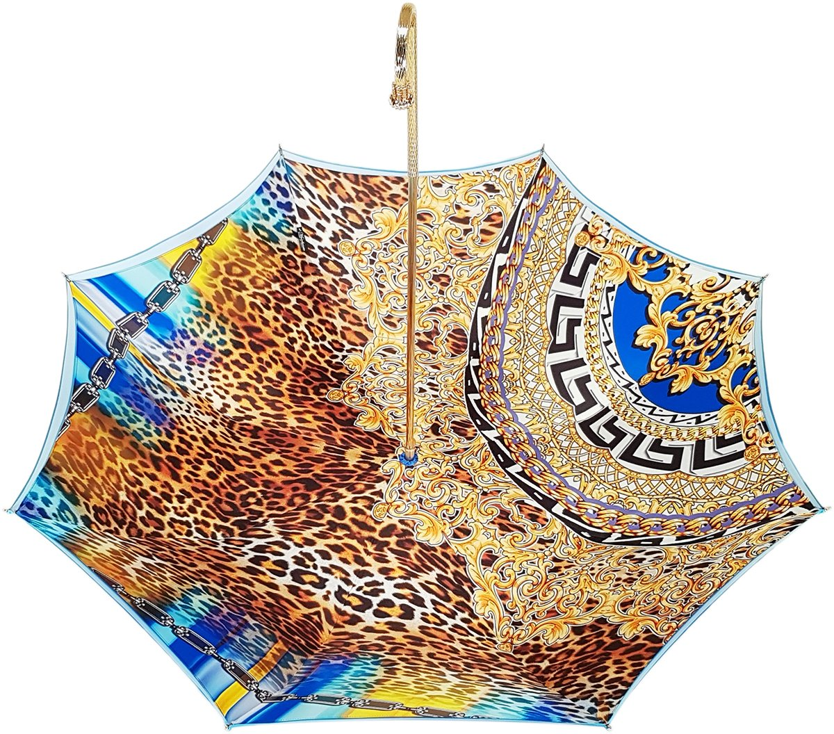 blue shaded luxury leopard umbrella