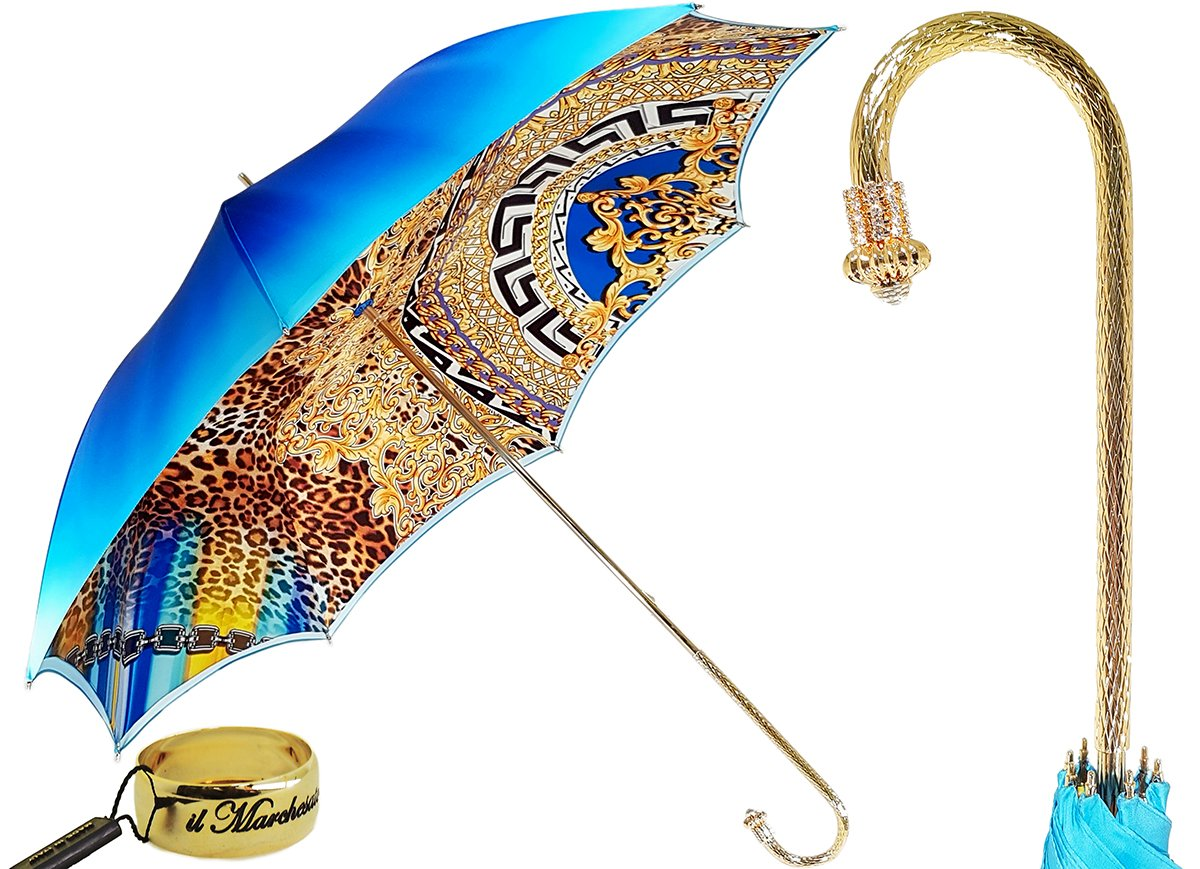 Astonishing new exclusive Leopardized Umbrella By  il Marchesato - il-marchesato