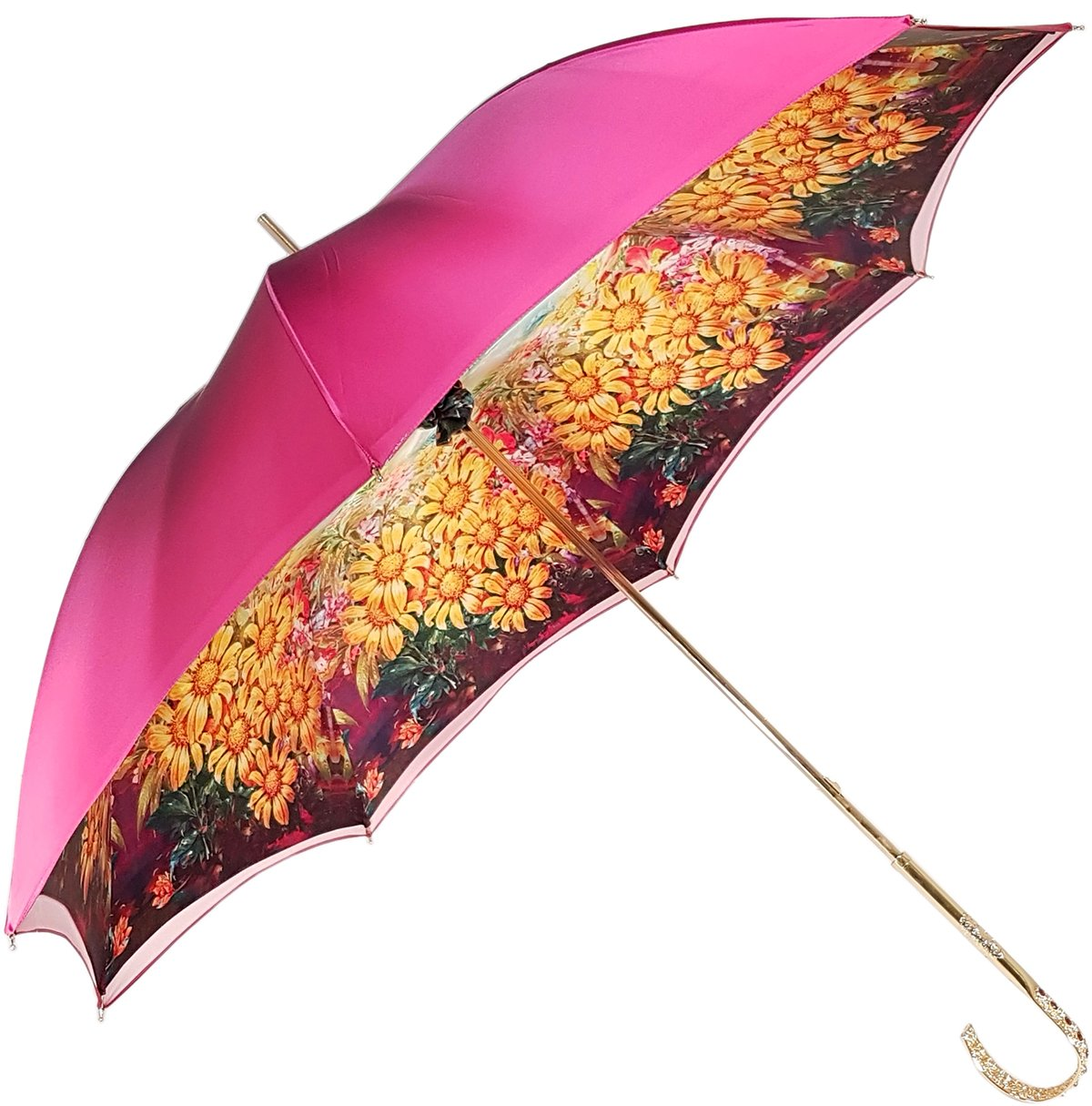 double canopy fuchsia umbrella