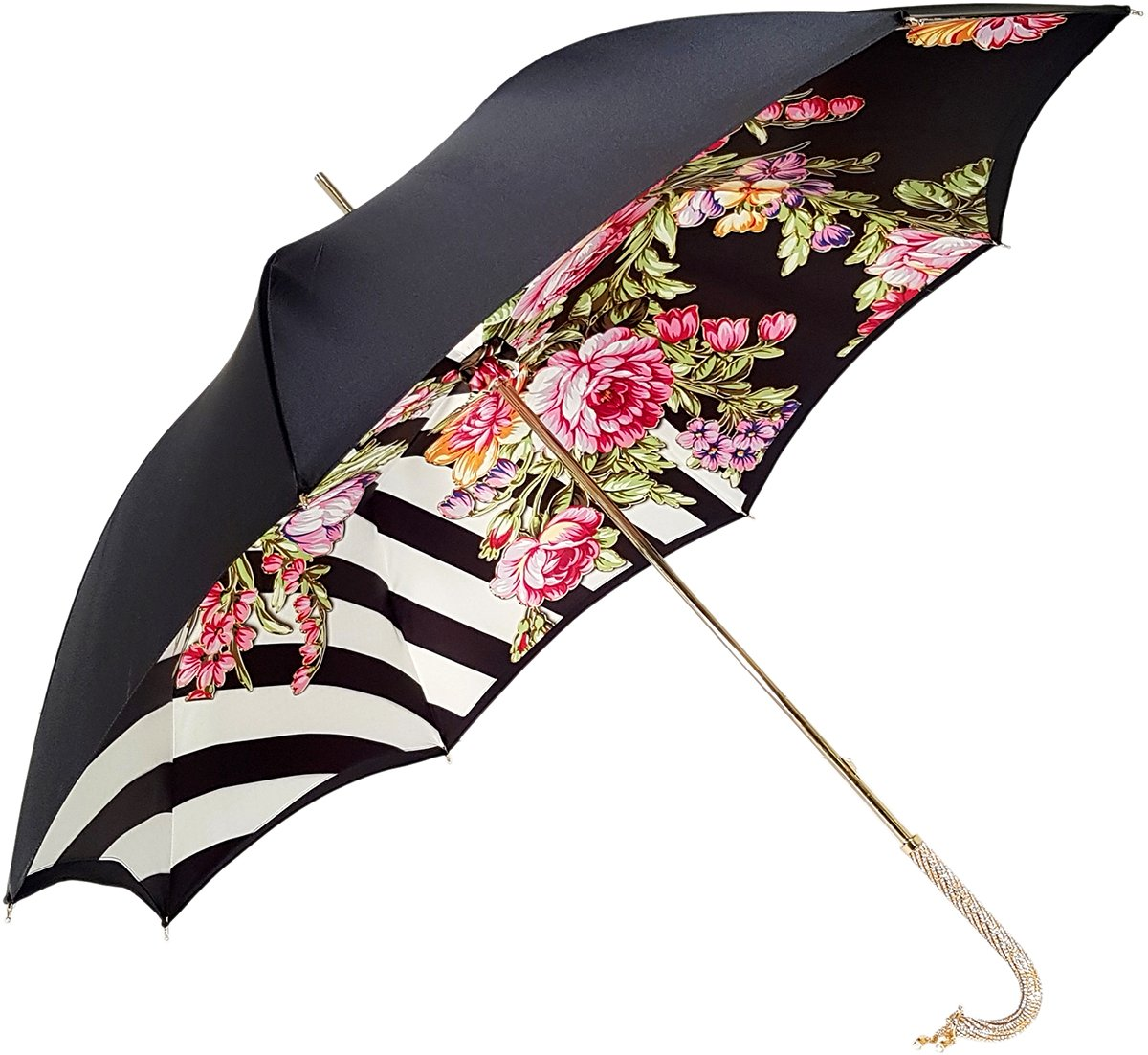 luxury flowered double canopy umbrella
