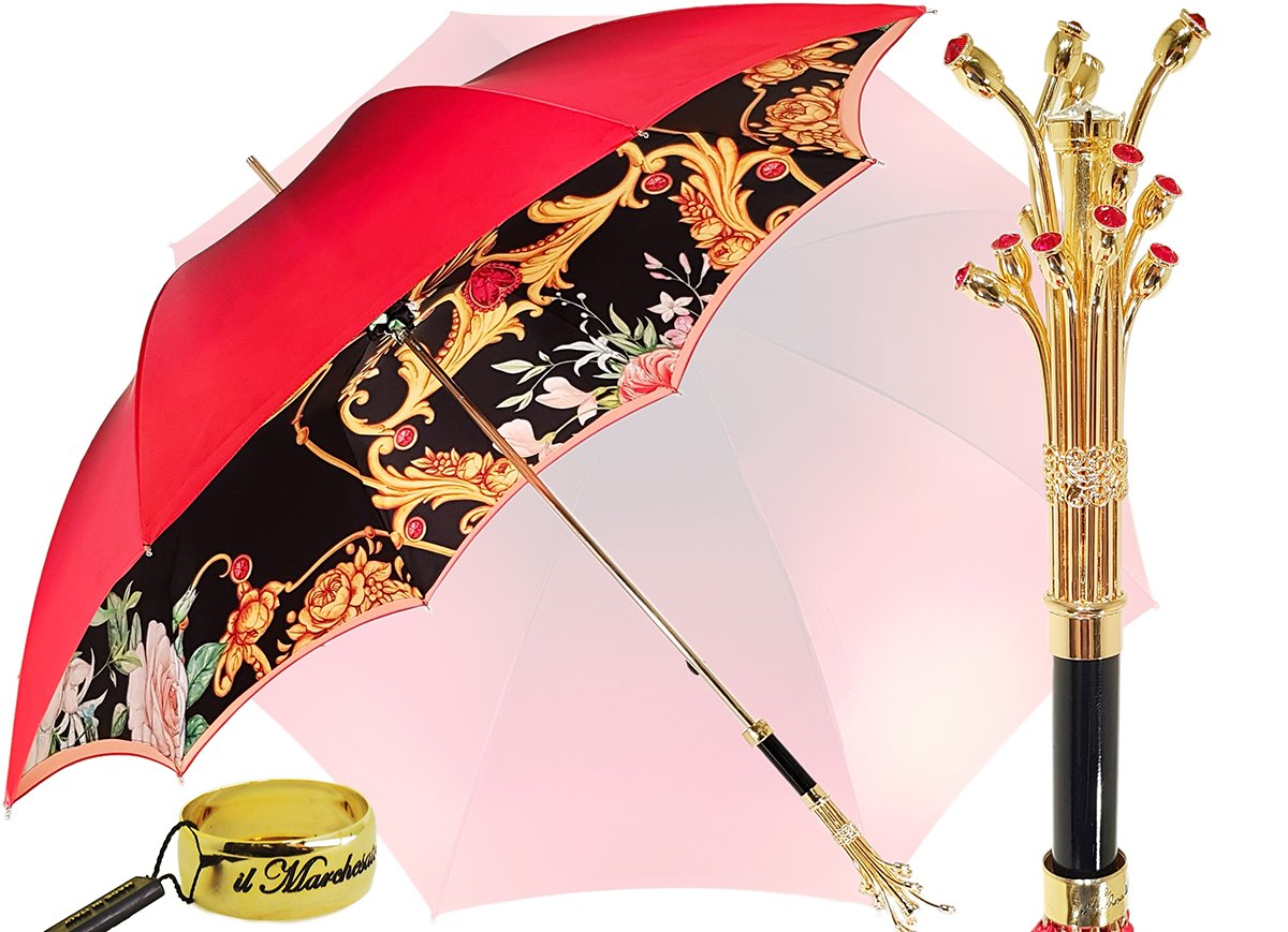 RED DOUBLE LAYER UMBRELLA