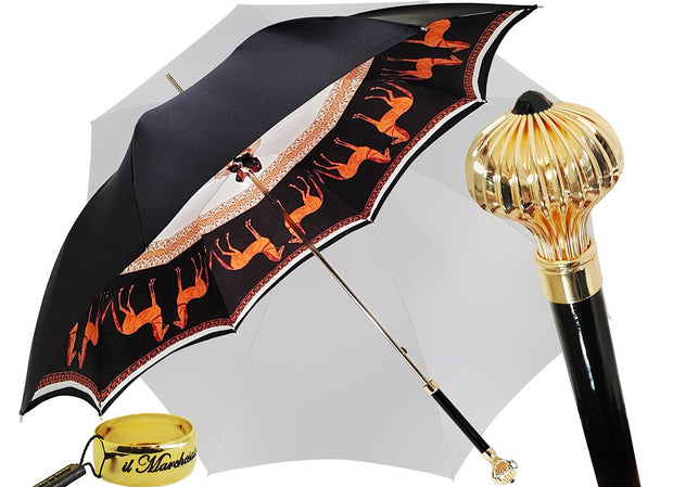 DOUBLE CLOTH HORSES DESIGN UMBRELLA