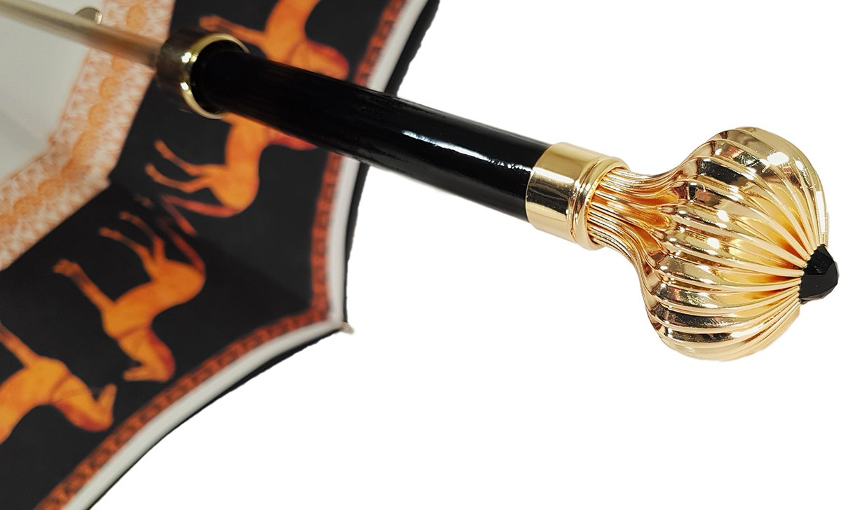 CHARMING GOLD HANDLE FOR UMBRELLA
