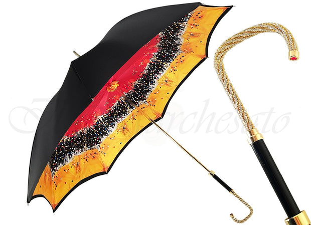 Beautiful Double Canopy Umbrella in a Parti-Coloured Design - il-marchesato