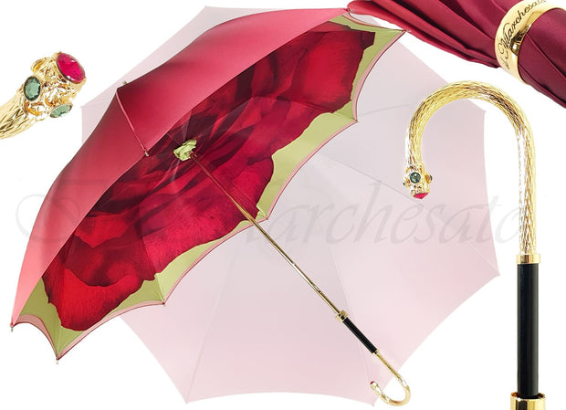 Beautiful Umbrella With Rose Design - il-marchesato