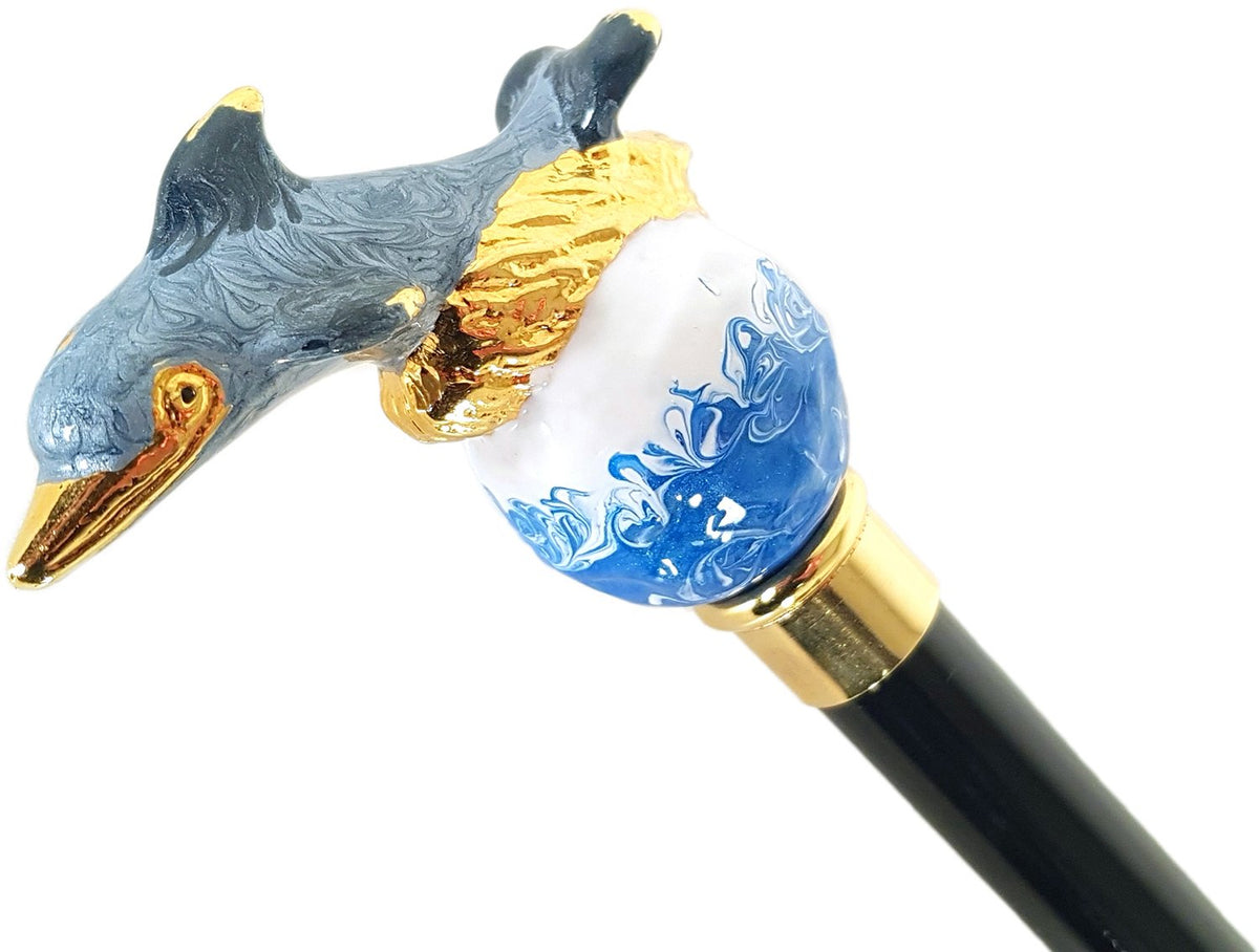 Awesome Dolphin Umbrella - Blue Rose Inside