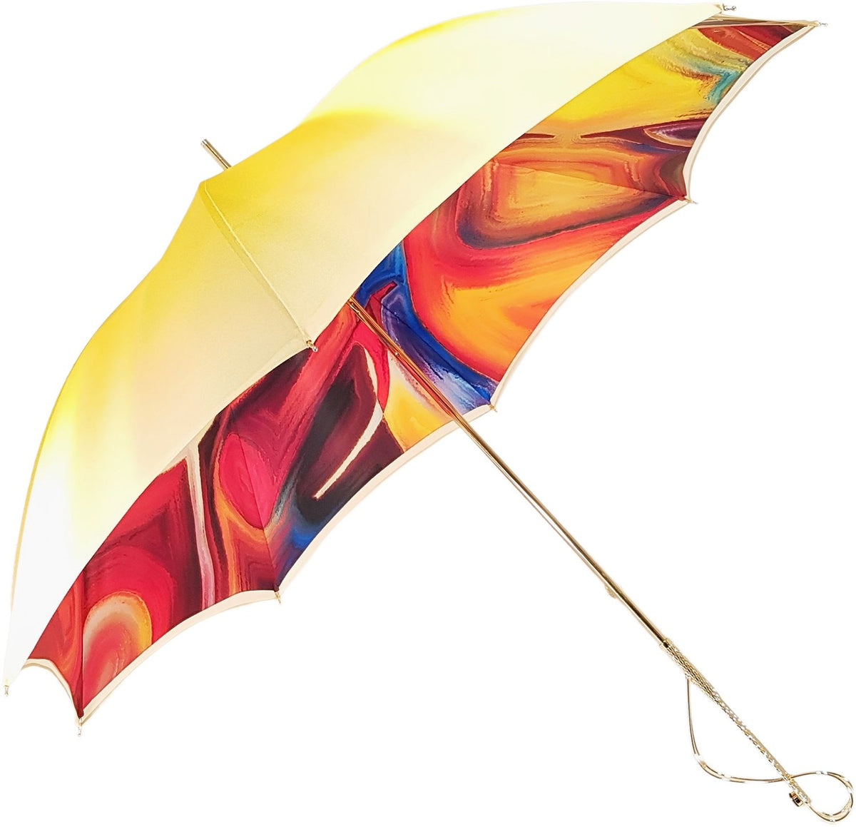Adorable Umbrella With Double Fabric, Exclusive  Design By il Marchesato - il-marchesato