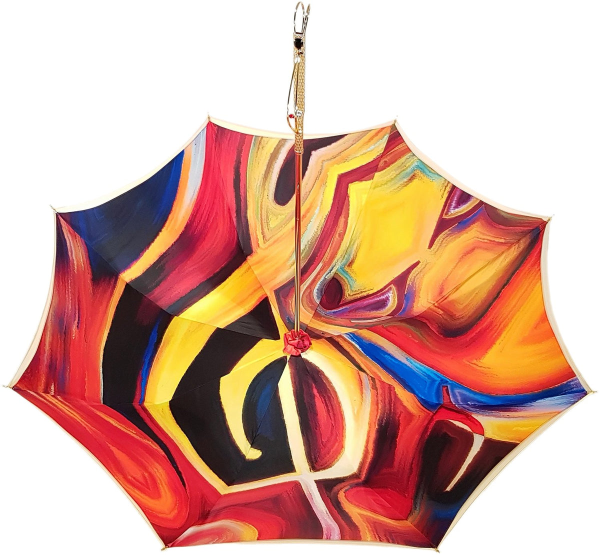 Adorable Umbrella With Double Fabric, Exclusive  Design By il Marchesato