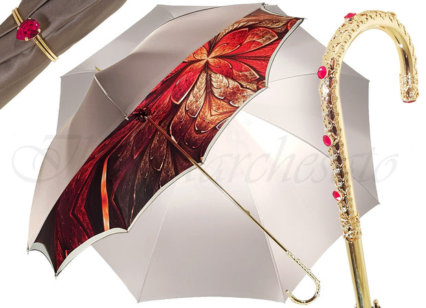Fantastic Double Canopy Luxury Ladies Umbrella - il-marchesato