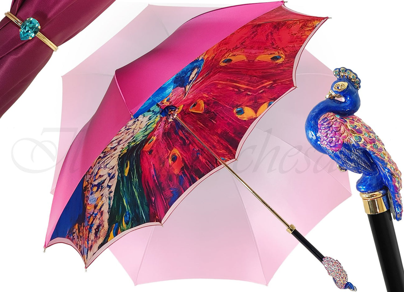 PEACOCK DOUBLE CLOTH UMBRELLA