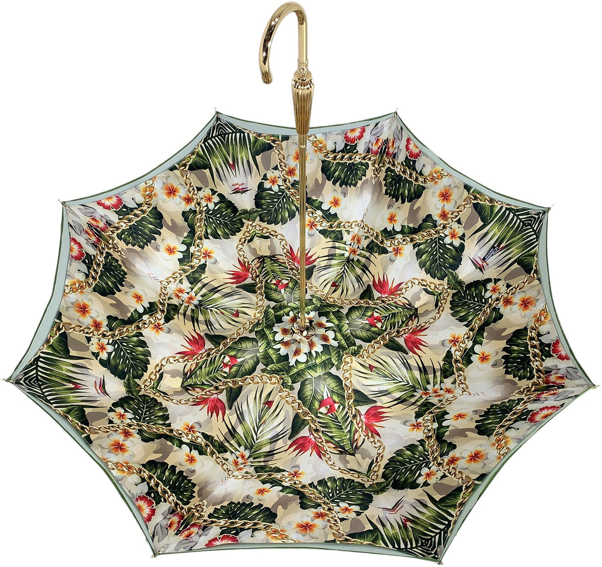 Fantastic flower and chain Umbrella With Double Fabric, Exclusive  Design By il Marchesato - il-marchesato