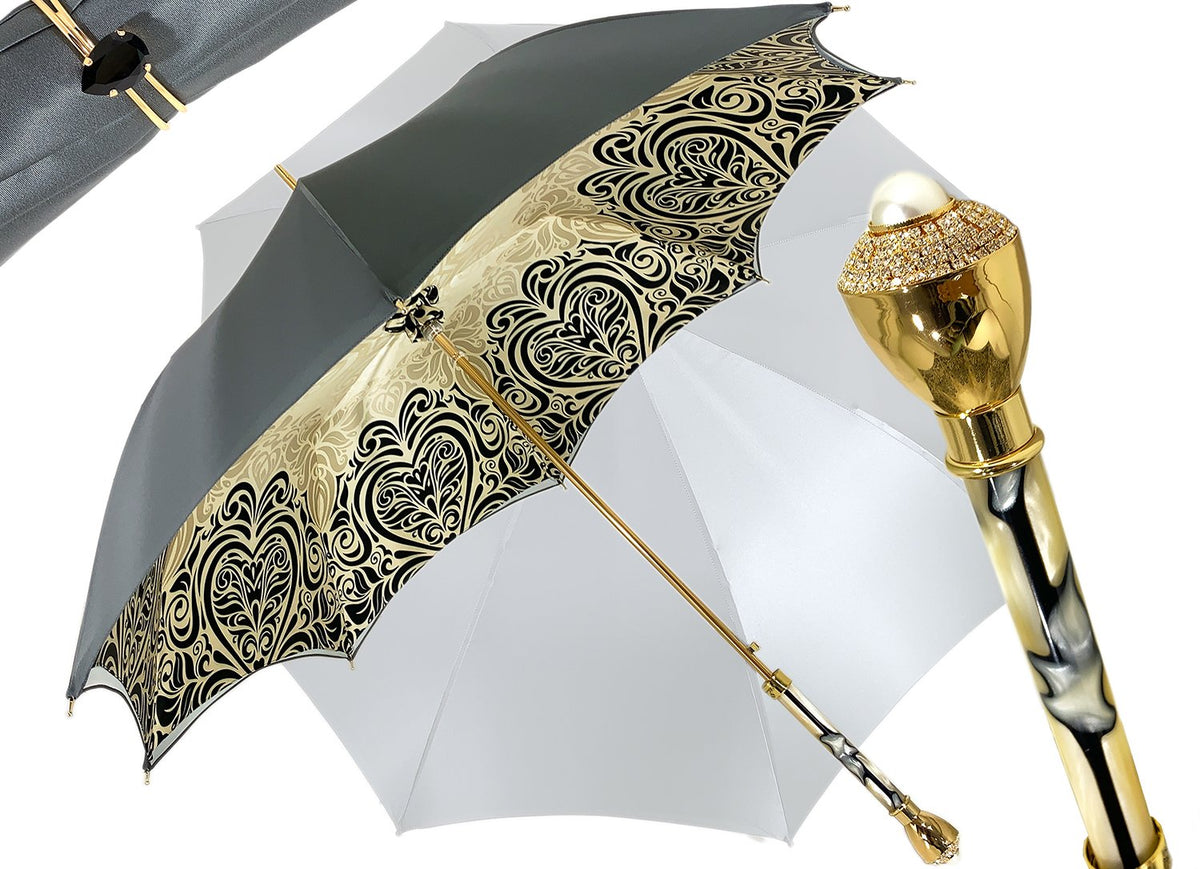 Elegant Stylish Baroque Design - Handmade Fashion Umbrella For Women - il-marchesato