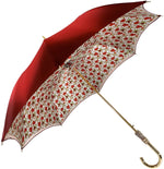 Load image into Gallery viewer, Il Marchesato Bright Red small roses Women's Umbrella - il-marchesato