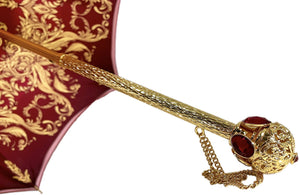 Il Marchesato ombrelli Burgundy crown design - Mylord red stones Handle - il-marchesato
