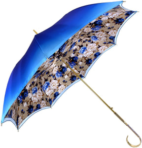 Heavenly Umbrella - Blue Roses interior - Handcrafted - il-marchesato