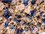 Load image into Gallery viewer, Heavenly Umbrella - Blue Roses interior - Handcrafted - il-marchesato