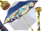 Load image into Gallery viewer, double cloth umbrella blue navi Marchesato