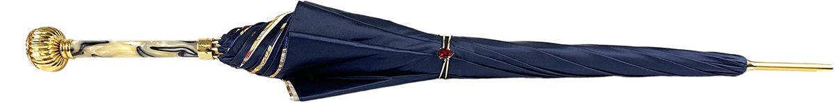 Fantasy Blue Women's Umbrella - IL MARCHESATO LUXURY UMBRELLAS, CANES AND SHOEHORNS
