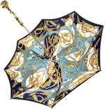 Load image into Gallery viewer, Fantasy Blue Women's Umbrella - IL MARCHESATO LUXURY UMBRELLAS, CANES AND SHOEHORNS