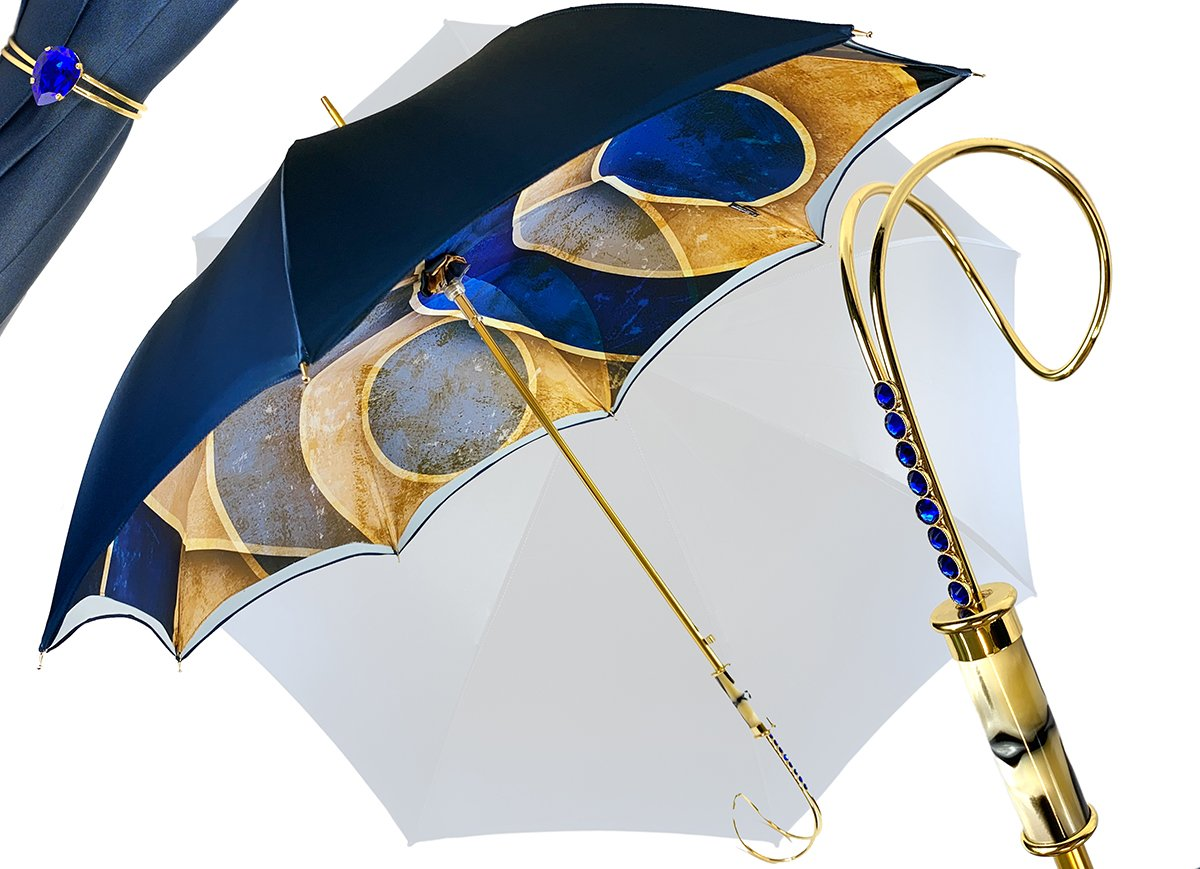 il marchesato luxurious blue umbrella