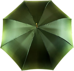 Elegant Green Floral Umbrella - IL MARCHESATO LUXURY UMBRELLAS, CANES AND SHOEHORNS