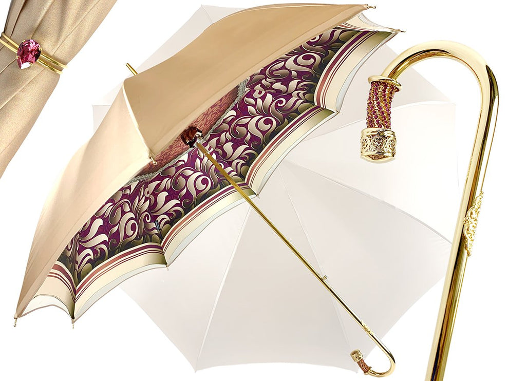 AWESOME DOUBLE CANOPY CREAM UMBRELLA