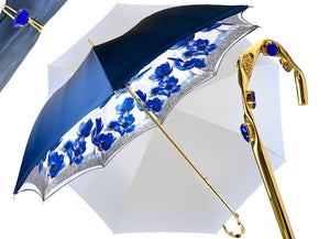 IL MARCHESATO BLUE STRAIGHT UMBRELLA