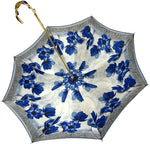 Load image into Gallery viewer, Blue Flowers Umbrella - IL MARCHESATO LUXURY UMBRELLAS, CANES AND SHOEHORNS