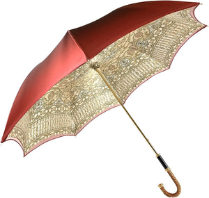 Luxurious Baroque Print Umbrella - IL MARCHESATO LUXURY UMBRELLAS, CANES AND SHOEHORNS