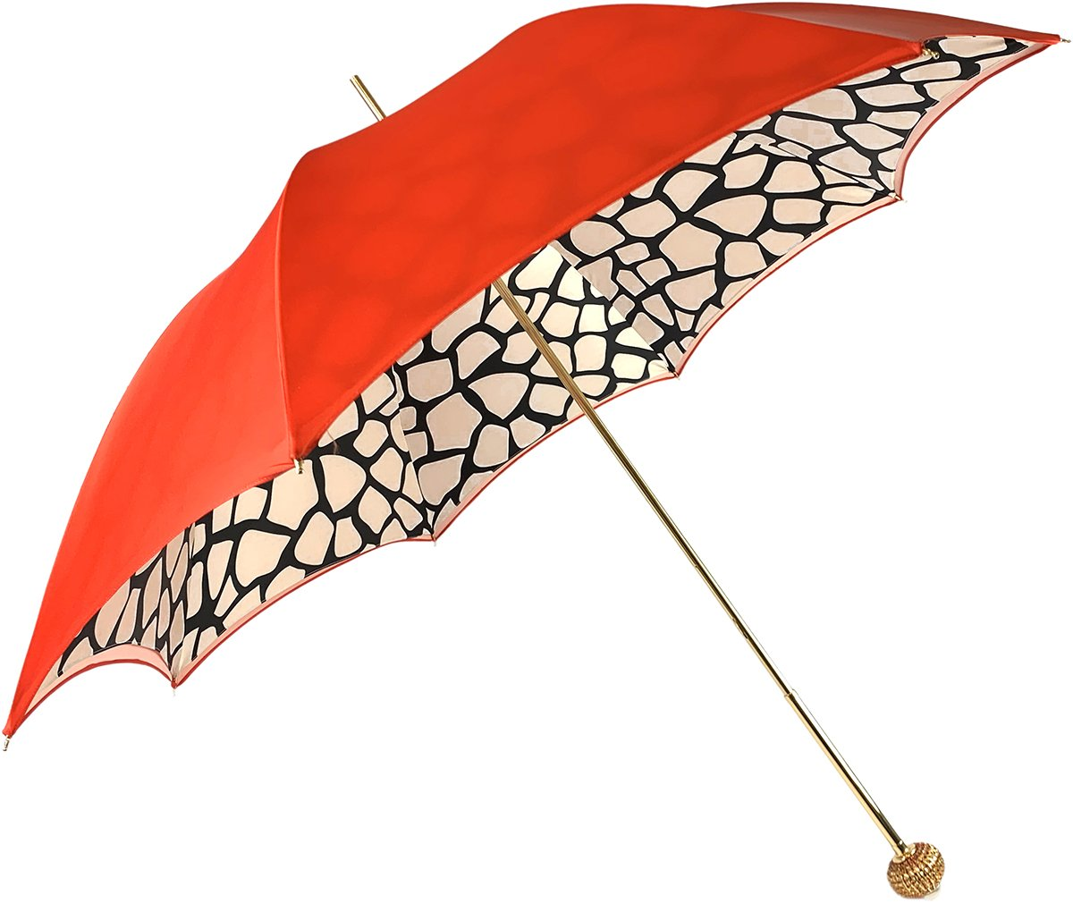 Luxurious Giraffe Pattern Umbrella - IL MARCHESATO LUXURY UMBRELLAS, CANES AND SHOEHORNS