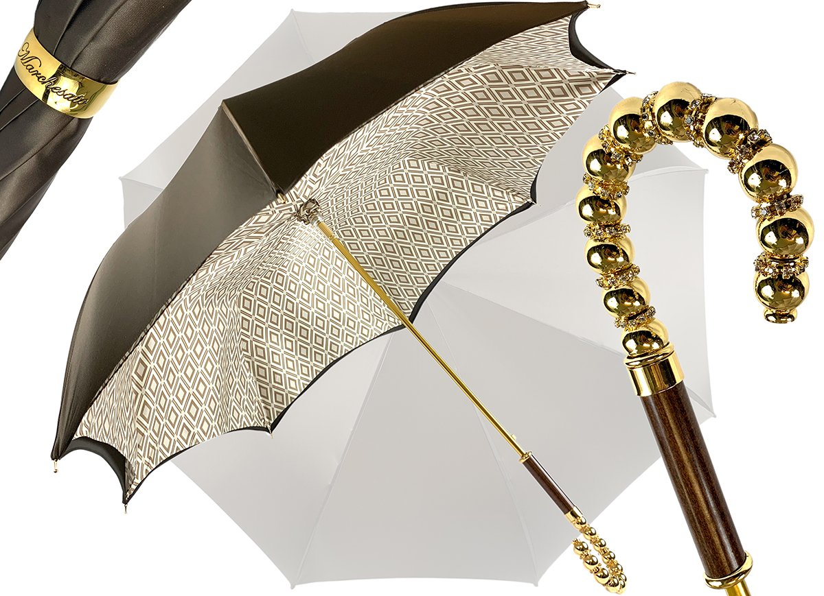 BROWN DOUBLE CLOTH UMBRELLA RHOMBUS