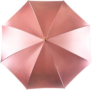 Beautiful Double Canopy Umbrella in a Luxurious Pink Satin - IL MARCHESATO LUXURY UMBRELLAS, CANES AND SHOEHORNS