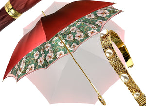 IL MARCHESATO IMPERIAL RED DOUBLE CANOPY UMBRELLA