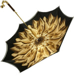 Load image into Gallery viewer, Double Cloth Gold Shaded Dahlia Umbrella - IL MARCHESATO LUXURY UMBRELLAS, CANES AND SHOEHORNS