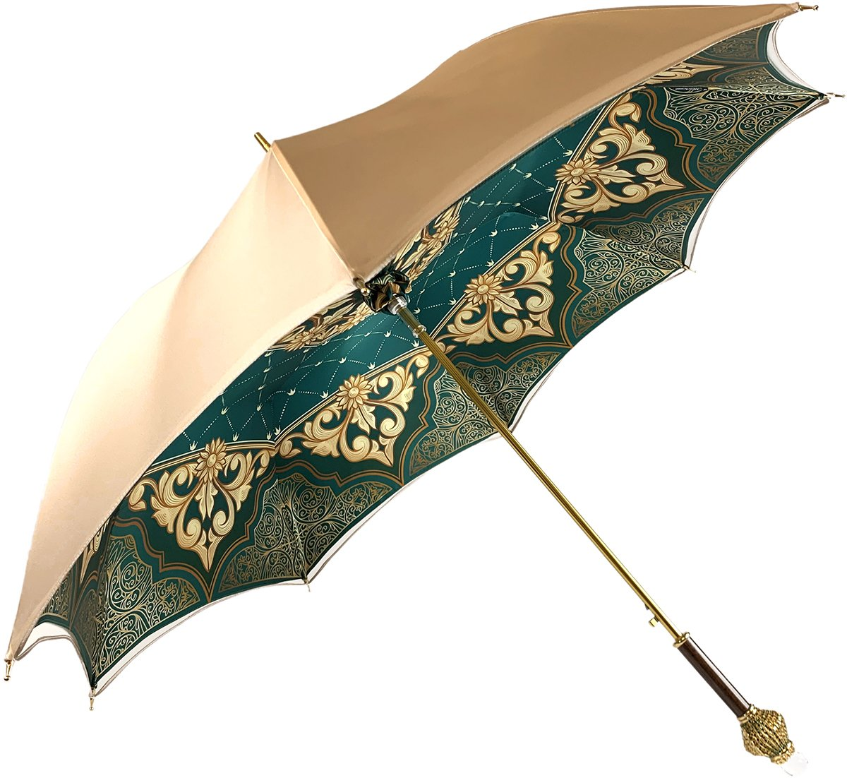 Gorgeous Cream Color Umbrella With Double Fabric
