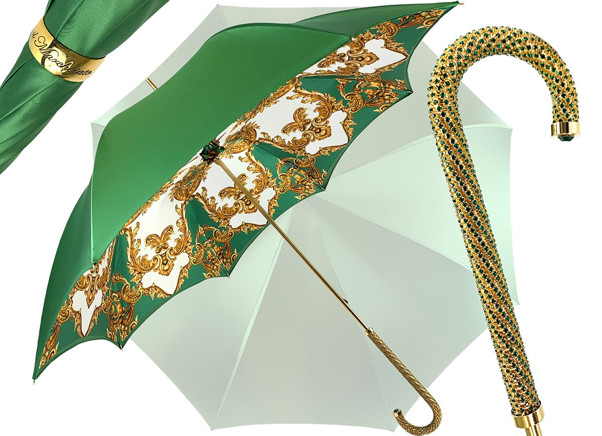 IL MARCHESATO CHIC GREEN UMBRELLA