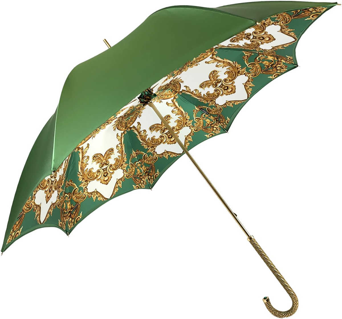 Women's Green Umbrella - IL MARCHESATO LUXURY UMBRELLAS, CANES AND SHOEHORNS