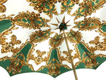 Load image into Gallery viewer, Women's Green Umbrella - IL MARCHESATO LUXURY UMBRELLAS, CANES AND SHOEHORNS
