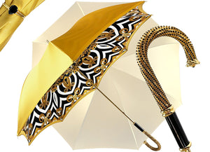 Umbrella Double Yellow Gold Cloth