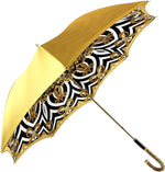 Load image into Gallery viewer, Umbrella In Fantastic Double Yellow Gold Cloth - IL MARCHESATO LUXURY UMBRELLAS, CANES AND SHOEHORNS