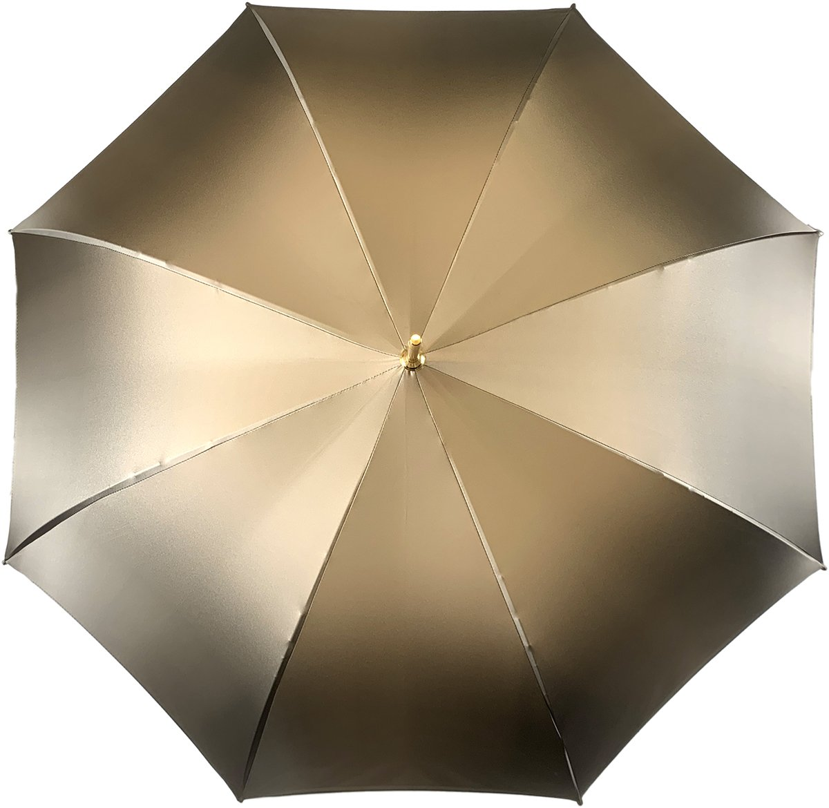 Double Cloth Umbrella In A Fantastic Chocolate Color - IL MARCHESATO LUXURY UMBRELLAS, CANES AND SHOEHORNS