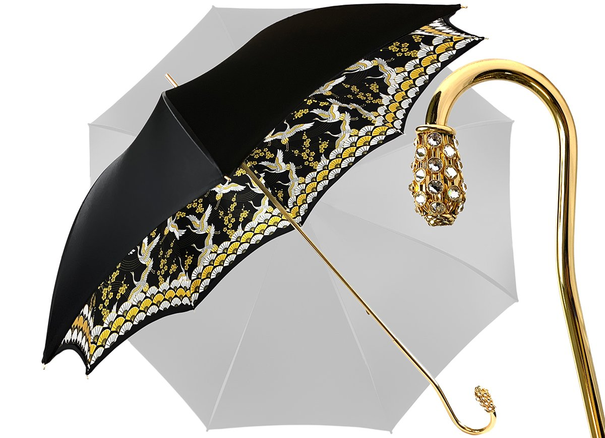 BLACK HERONS UMBRELLA DOUBLE CLOTH
